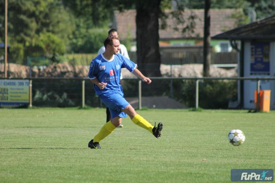 Szene aus dem Pokalspiel gegen Zscherndorf Saison 2013/14