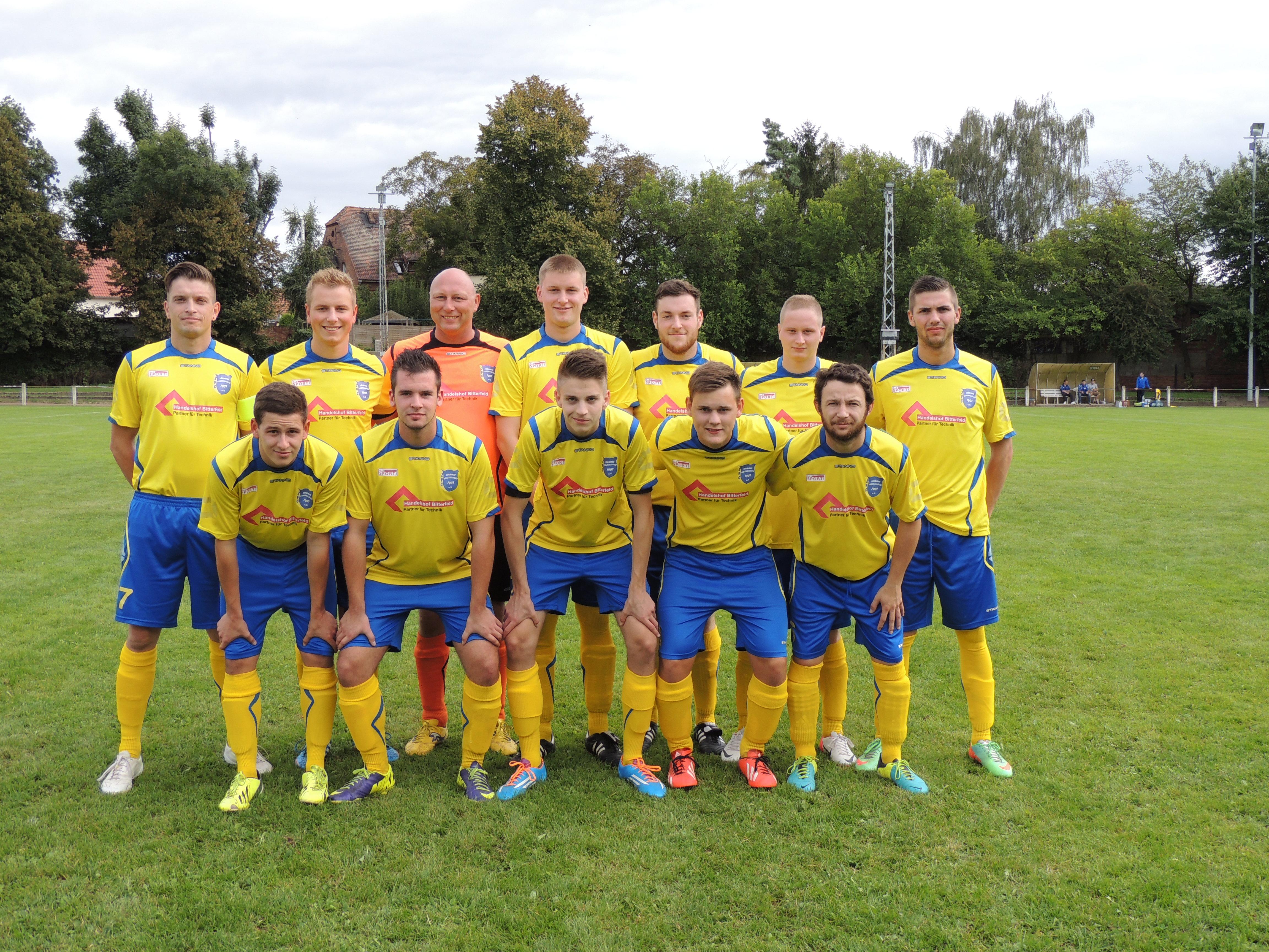 Vor dem Spiel in Gröbzig Saison 2014/15