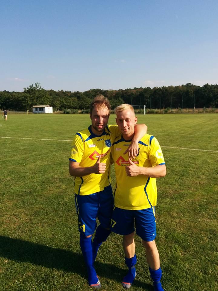 Unsere Torschützen Ronny Telle (rechts) und Philipp Schreiber
